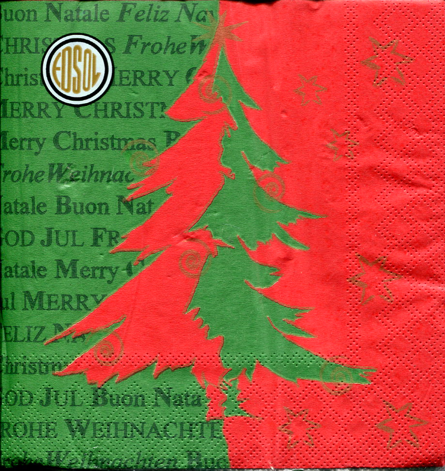 Christmas Napkins.Christmas Napkins 3ply Pack Of 15 Green Red Christmas Tree