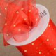 Club Green Organza Ribbon with Gold Dots 50mm