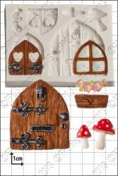 FPC Sugarcraft Mould: Fairy Door & Windows