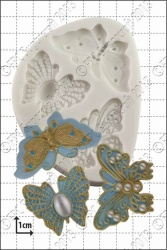 FPC Sugarcraft Mould: Filigree Butterflies