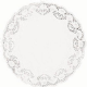 "Round White Paper Doilies: 8.5"" (216mm) pack of 10"
